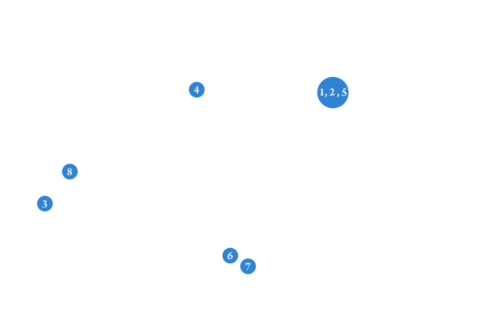 Locations all Around the Nation